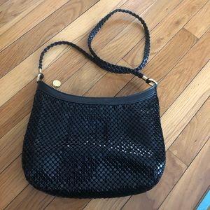 La Regale vintage black metal mesh purse